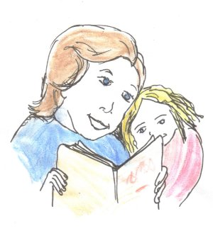 illustrationfriday word of week- Book , Reading together