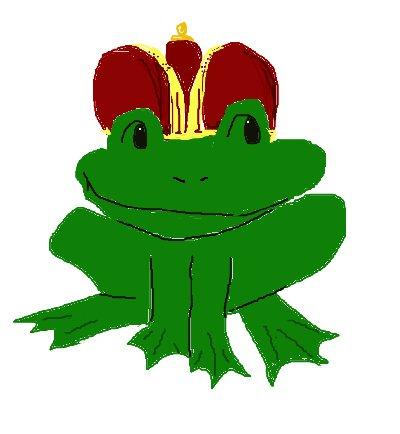 crown, frog prince, frog