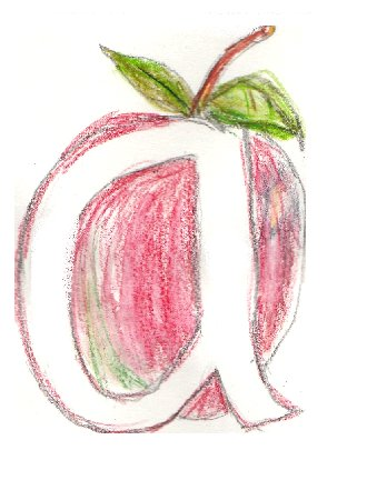 letter A, illustrated alfabet