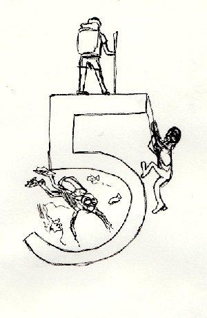 number 5, 5, five