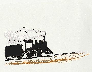 steam emgine, train