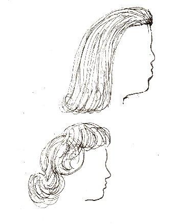 wig, hair