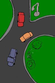 traffic, yield