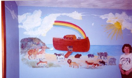 noahs ark, bible story, rainbow, ark, animals