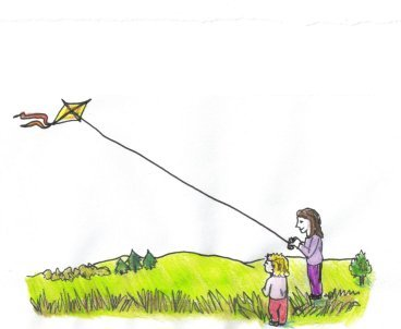drops of happiness-kite flying