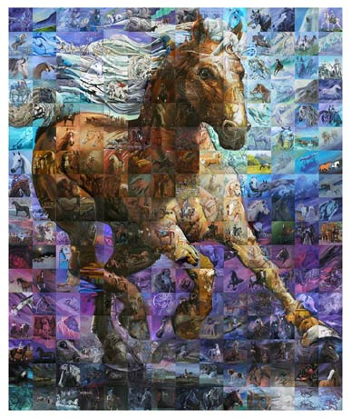 the gift horse mosaic