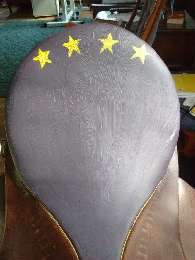 saddle, painted, art, equestrian, tack