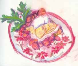 strawberry shortcake, strawberry, cake